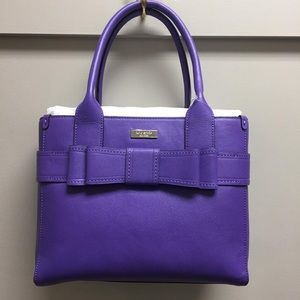 Kate Spade Villabella Avenue Purple Bow Purse